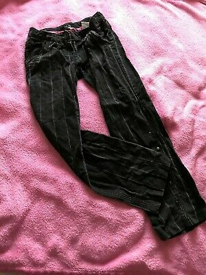 DKNY Black and White Striped Trousers ~ Age 8 Years