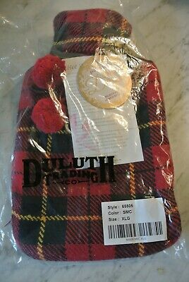 Duluth  Trading Co. Wallace Plaid Hot Water Bottle Bag XLG