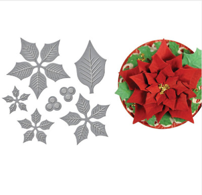 LAST ONE**Cutting Dies**POINSETTIA *4**Christmas*Birthday*Cards*Topper