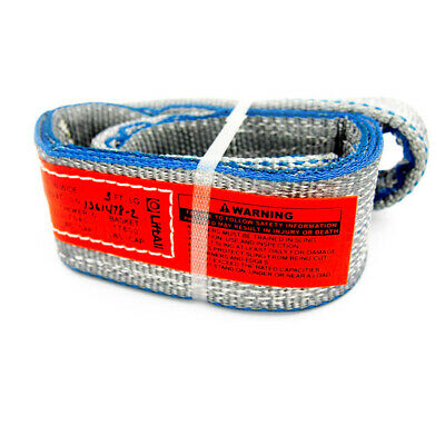 "Lift-All EE2803TTX3 Web Sling, Twisted Eye and Eye Type 4, 3 Ft. x 3"", 2-Ply"