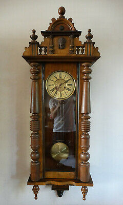 Antique Victorian Vienna Wall Clock FMS Friedrich Mauthe Germany Chiming 8 Day