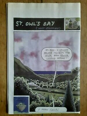 St. Owl's Bay (Wet Swords) Megg Mog Owl Simon Hanselmann Ltd OOP Newsprint Vice