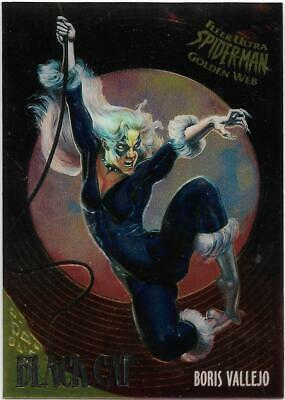 1995 Fleer Ultra Spiderman Golden Web Chrome (1) BLACK CAT