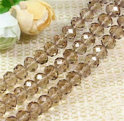 NEW Jewelry Faceted 30pcs 6x8mm white Roundelle Crystal Loose Beads #5040 DIY
