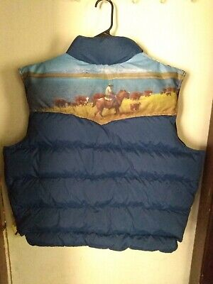 Vintage MILLER GOOSE DOWN-FILLED VEST USA men's size Xtra Large **RARE**
