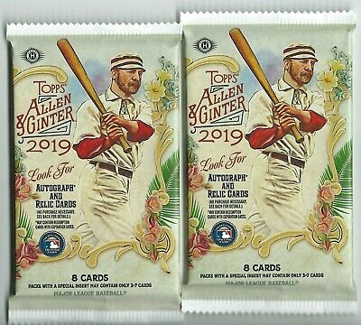 2 Pack Lot 2019 Topps Allen & Ginter Guaranteed Jersey Hot Packs Auto?