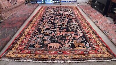 Fine Quality Semi Antique & Dated Wool  Hand knotted Pictorial Rug Carpet