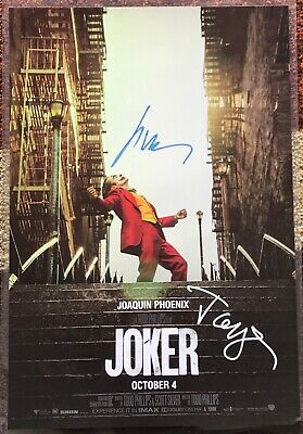Joker Poster Signed by Joaquin Phoenix and Todd Phillips