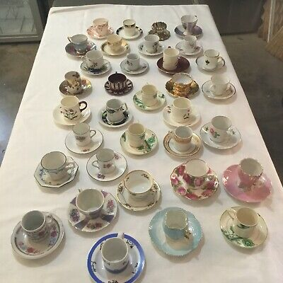 demitasse cup collection antique and retro