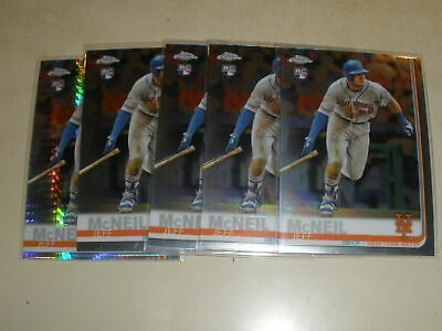 2019 Topps Chrome #152 Jeff McNeil Rookie RC 5 Card Lot Prism Refractor