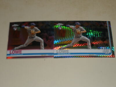 2019 Topps Chrome Pink Prism Refractor #151 Brandon Lowe Rookie RC 2 Card Lot