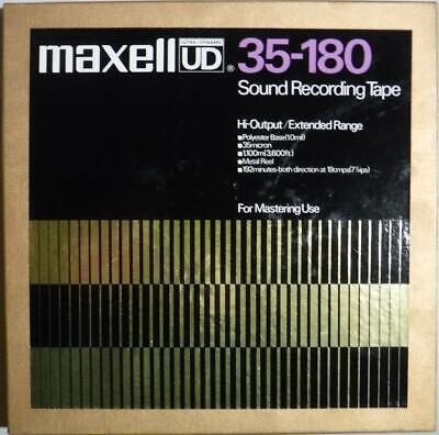 "Maxell UD 35-180 - Nice Condition 10"" Metal Reel - Used Reel To Reel Tape"