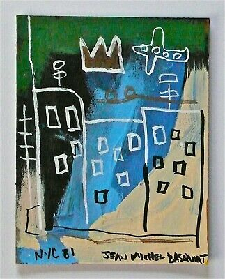 Jean-Michel Basquiat - A Neo-Expressionist Signed Original Painting Nyc Graffiti