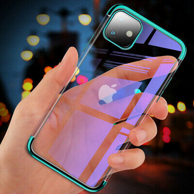 For iPhone 11 Pro Max Clear Case Rubber Shockproof Soft Phone Cover TPU Silicone