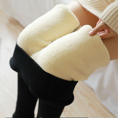 Lady Women Stretchy Winter Thick Warm Leggings Fleece Lined Thermal Skinny Pants