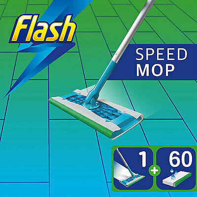 Flash Speedmop 60 Lemon Scent Mopping Cloths Giga Pack Floor Cleaning
