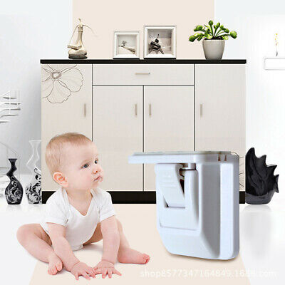 Magnetic Child Safety Cabinet Locks Heavy Duty Cupboard Locking System #X