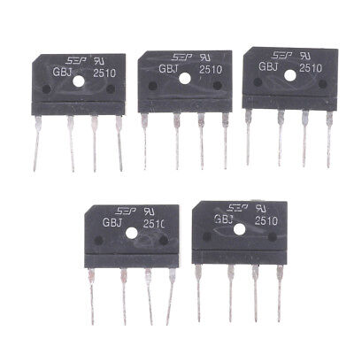 5Pcs GBJ2510 2510 25A 1000V Single Phases Diode Bridge Rectifiers  UQ