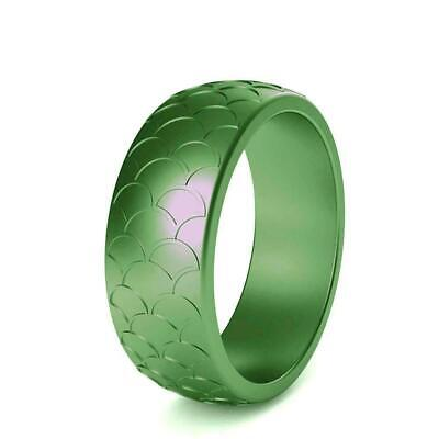 Fish Scale Silicone Ring Men Women Sports Wedding Flexible Rubber Bands P1W Z8P5
