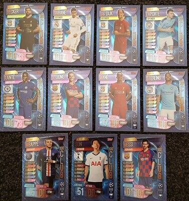 2019/20 Match Attax UEFA Champions League - 100 Club Cards - Buy 3 Get 1 FREE