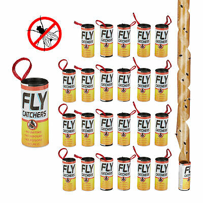 Fly Catcher Adhesive Rolls 24 Pieces Fly Trap Sticky Trap Insect Bait Fruit Flie