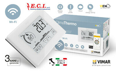 Vimar - 02907 - Thermostat Touch Wi Fi Mur Blanc