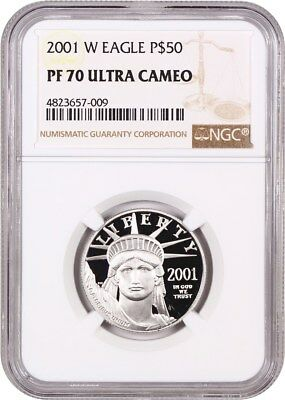 2001-W Platinum Eagle NGC Proof 70 UCAM