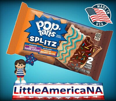 Pop Tarts Splitz Drizzled Sugar Cookie - Frosted Brownie Batter
