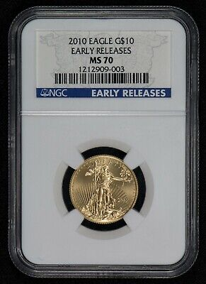 2010 G$10 1/4 oz GOLD AMERICAN EAGLE, EARLY RELEASE *NGC MS 70* LOT#S673