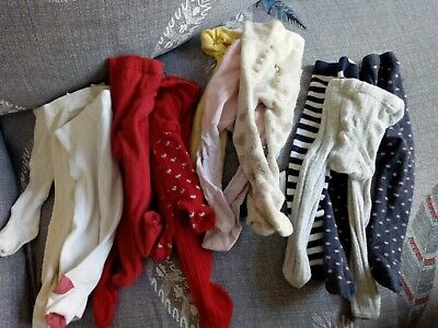 Baby girl tights bundle 3-9 months