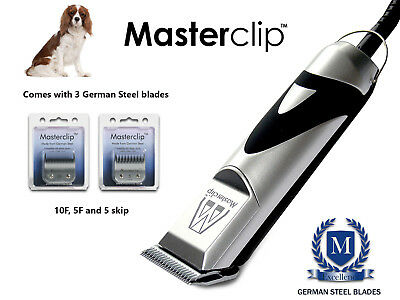 Cavalier King Charles Dog Clippers Set with 3 Spaniel Masterclip German Blades
