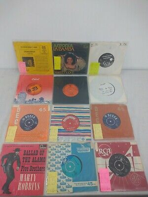 """Job Lot Collection Of 12 X Vintage Collectable 7"""" 45s Vinyl"""