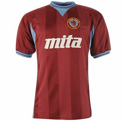 Aston Villa 1984 Retro Home Jersey Mens Claret Football Soccer Fan Shirt Top Tee