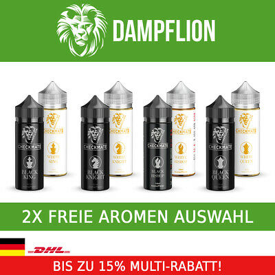 Dampflion Checkmate 2x10ml White & Black Queen King Knight Bishop Aroma Liquid