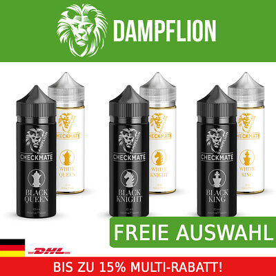 Dampflion Checkmate 3x10ml White & Black Queen King Knight Aroma Liquid Set