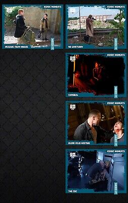 TWD ICONIC MOMENTS WAVE 3 TEAL 5 CARD SET 2019 Topps WALKING DEAD DIGITAL TRADER
