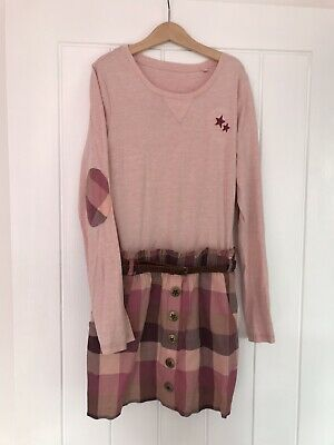Girls Next Pink Check Skirt Dress Outfit 11 Years