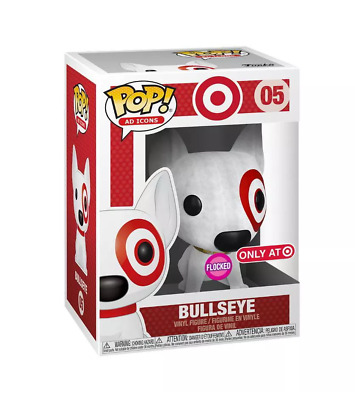 Funko Pop! Ad Icons: Target Exclusive - Flocked Bullseye SDCC - damaged
