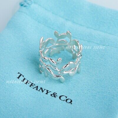 Tiffany & Co. Sterling Silver 925 Paloma Picasso Olive Leaf Band Ring size 6.5