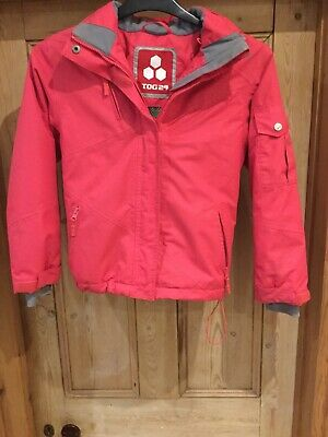 pink girls tog 24 jacket / coat with hood aged 9/10 years