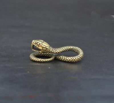 Chinese old collection handwork bronze Zodiac snake Pendants