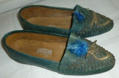 Vintage Girls Leather Shoes size 6 childs 1930th