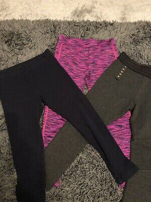 3 Pairs Girls Leggings Trousers Age 6 From Next