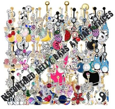 SALE Belly Bars - Discontined or One Off Items etc Many types of Belly Bar Cheap