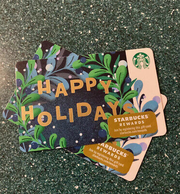 New Release 2019 Winter Holiday Happy Holidays Starbucks Gift Card