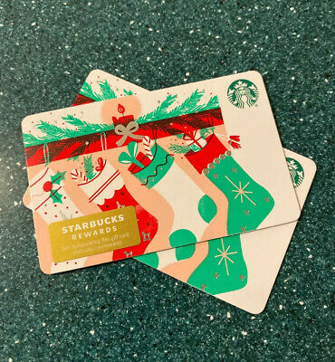 New Release 2019 Winter Holiday Christmas Stockings  Starbucks Gift Card
