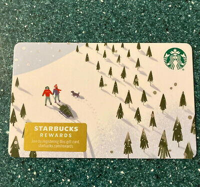 New Release 2019 Winter Holiday Sledding And Snow Starbucks Gift Card