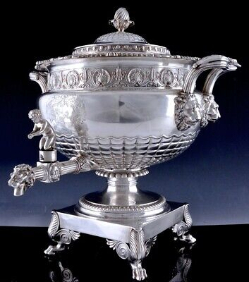 MAGNIFICENT & LARGE c1813 PAUL STORR GEORGIAN STERLING SILVER TEA URN SAMOVAR