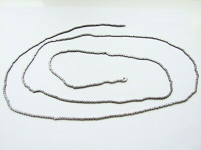 Antique fusee clock chain, one hook, length 50 inches