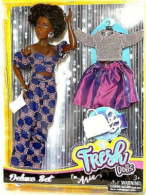 The Fresh Dolls ARIA DELUXE SET Doll 2nd Outfit w Shoes Purse Skirt NEW